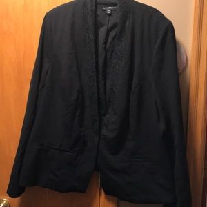 Lane Bryant Black Blazer with lace trim. Size 24
